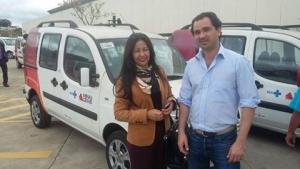 Secretária de saúde de Pirajuba, Elisa Rodrigues e Guilherme Regatos (Assessor do Deputado Iran Barbosa)
