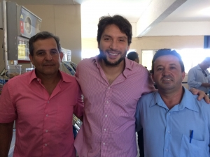 Tião Cowboy, empresário de Governador Valadares; Deputado Iran Barbosa e Vereador Nenem, de Governador Valadares. Em GV.