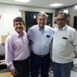 Vice prefeito de Delta, Joaquim Lopes de Souza (kim), prefeito de Pirajuba, Rui Ramos e o Assessor do deputado Iran Barbosa, Marcos Melo.