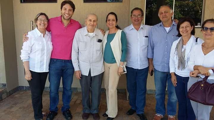 Maria, Antônio Baduy, Rosângela Baduy diretores do Sanatório Espírita José Dias Machado, vereador, Maria Augusta e Márcia voluntárias do grupo SOS SANATÓRIO.