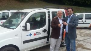 Prefeito Celio Nesce, de Raul Soares e Guilherme Regatos (Assessor do Deputado Iran Barbosa)